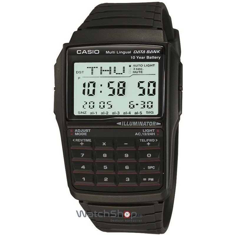 Ceas Casio DATA BANK DBC-32-1AES Baterie 10 ani – Ceasuri barbatesti Casio