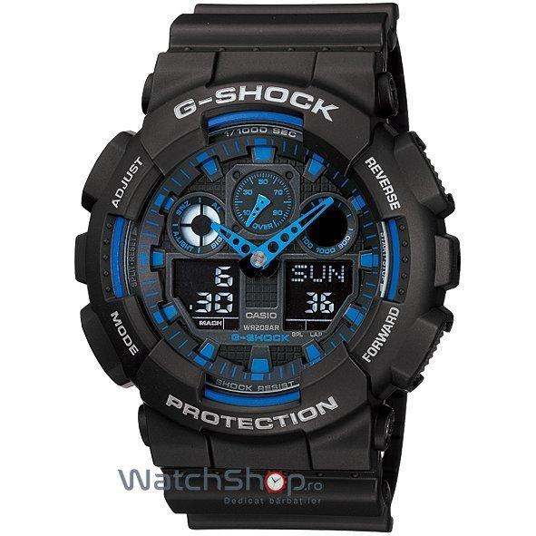 Ceas Casio G-SHOCK GA-100-1A2 Antimagnetic – Ceasuri barbatesti Casio