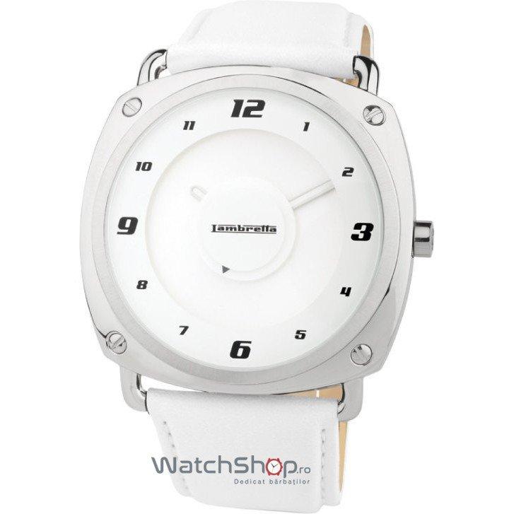 Ceas Lambretta BRUNORI 2074whi Leather White – Ceasuri barbatesti Lambretta