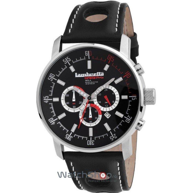 Ceas Lambretta IMOLA 2151bla Leather Black